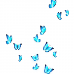 Verkleind —Pngtree—glowing blue butterfly a group_3942864